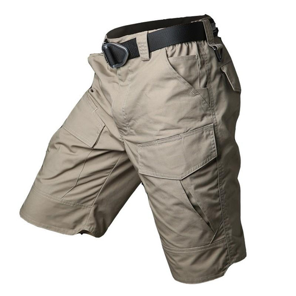 best selling Men's Outdoor Sports Fast Dry Cargo Short Trousers Summer Militar Tactical Traning Waterproof Knee Length Beach Overalls Shorts