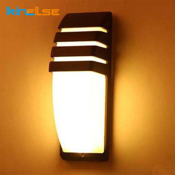 LED Duvar Lambaları Su Geçirmez IP65 Sundurma Işık AC90-260V Alüminyum Avlu Modern 9 W Retro Duvar Işık Bahçe Koridor Açık