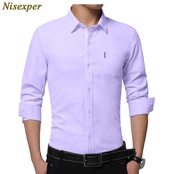 Hign Quality New Brand Men Shirt Male Dress Shirts Men's Fashion Casual Long Sleeve Business Formal Shirt Plus Size 5XL