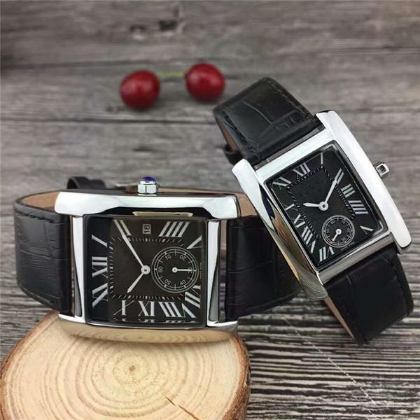 2018 Marke Mode Luxus Mann / Frauen Leder Uhr Berühmte Designer Edelstahl Sexy Lady Watch Hohe Qualität Berühmte Marke Quarzuhr
