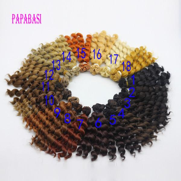 15x100cm DIY Café negro Caqui Color de pelo rizado Peluca Peluca para 1/3 1/4 1/6 BJD SD LUTS Muñecas que reparan