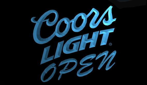 LS710-b-Coors-Light-Beer-OPEN-Bar-Neon-Light-Sign Decor Free Shipping Dropshipping Wholesale 8 colors to choose