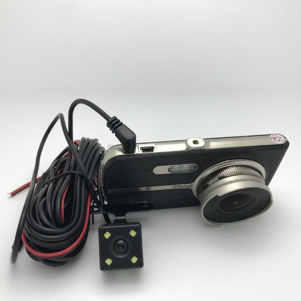 JIELI Chip 4.0inch Car Dvr HD 1080P Double Camera Dual Recording Night Vision 140 Degree X500 1pc/lot