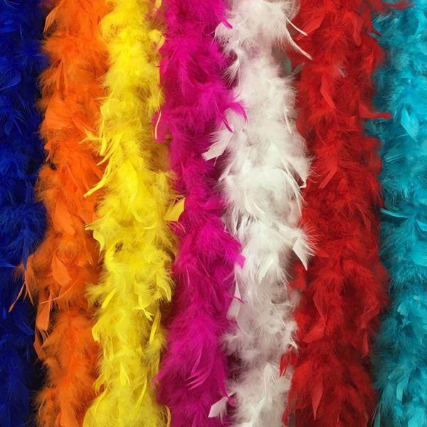 Feather boa 180cm burlesque showgirl hen night fancy dress party dance costume accessory wedding DIY decoration 17colors Z903
