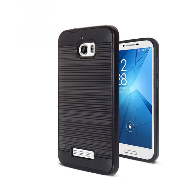 detailed look 099ac 407e7 For ZTE Blade X Z965 Alcatel Idol 5 Cricket Wireless Coolpad Defiant 3632  Hard PC Soft Tpu 2 In 1 Brushed Shockproof Hybrid Armor Case Durable Cell  ...