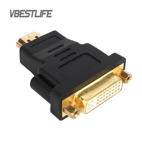 cable hd VBESTLIFE Audio Cable HD 1080P Gold Plated HDMI male to DVI 24+5 female Graphics Card Converter adapter for HDTV LCD