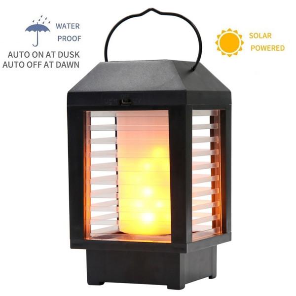 Solar Hanging Lantern Outdoor LED Flickering Flame Torch Lights Solar Powered Lantern Waterproof Premium Solar Lanterns Decorative Lamp