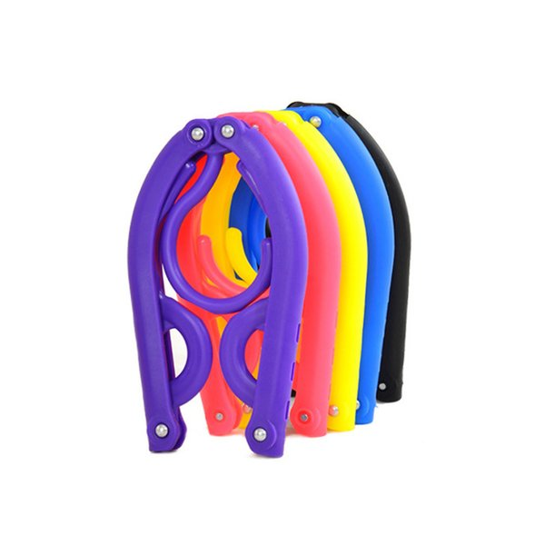 Multi Function Folding Clothes Rack Non Slip Plastic Hangers Portable Travel Coat Hanger 0 75gt C R