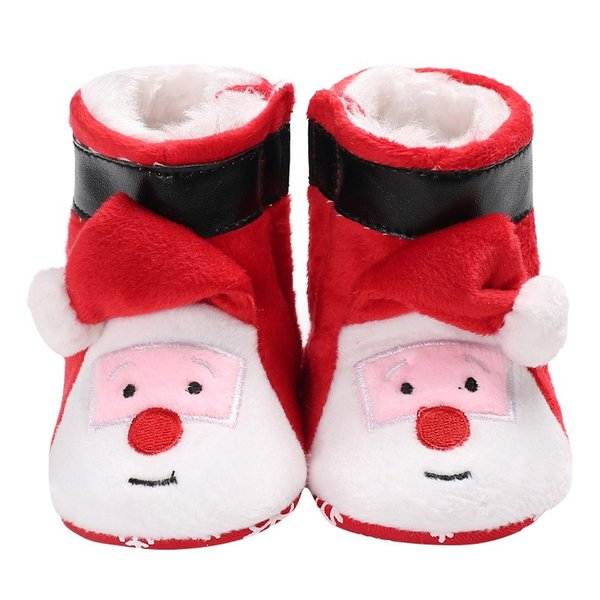Vente chaude Bébé Garçons Filles Nouveau-Né Hiver De Noël Chaud Snowfield Bottes Chaussures Infant Toddler Mode Mignon De Bande Dessinée Chaussures De Vente Chaudes