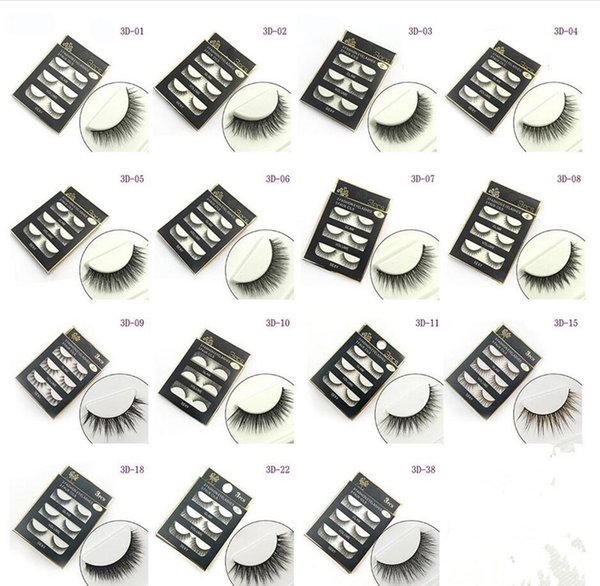 NEW 3D Mink Hair False eyelashes 20 Styles Handmade Beauty Thick Long Soft Mink lashes Fake Eye Lashes Eyelash Sexy High Quality