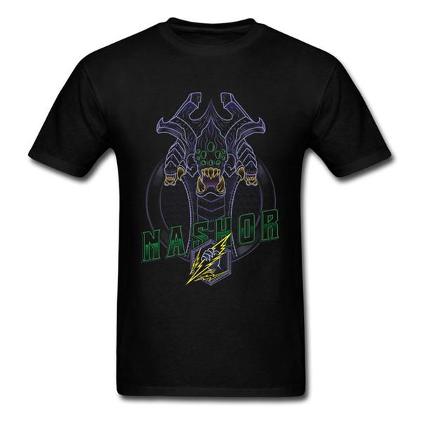 Nashor Lol Big Dragon Maglietta 2018 Gg Game T Shirt For Men Estate Cool Mens Black Top 3d Monster Designer Streetwear