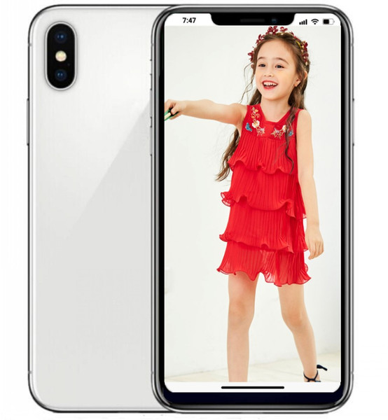 ERQIYU goophone Xs cell phones 5.8inch HD screen shown 4G LTE 128GB ROM Face ID Octa Core unlocked Smartphones