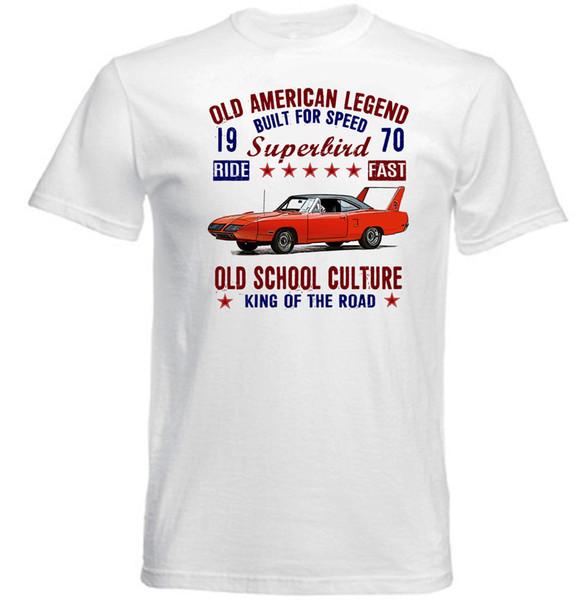 VINTAGE AMERICAN CAR PLYMOUTH SUPERBIRD - NOUVEAU T-SHIRT EN COTON vêtement camiseta