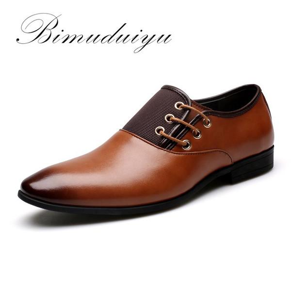 Big Size 6.5-12 New Fashion Hommes Chaussures De Mariée Chaussures Chaussures Noires À Bout Rond Flat Business Britannique Chaussures À Lacets Hommes