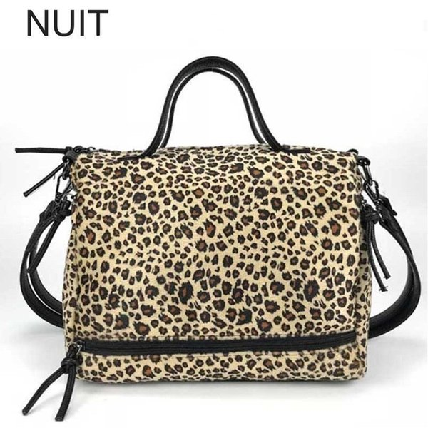 Leopard Print Pillow Women Handbag PU Leather Female Tote Bag Brand Design Women Shoulder Bags Large Capacity Messenge Bag