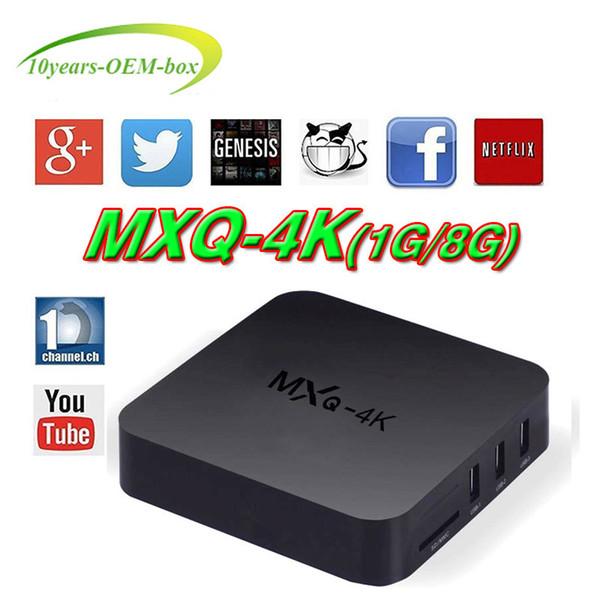 Factory MXQ Pro 4K MXQ-4K Android 7.1 TV Box RK3229 Set Top Box 4K Ultra HD Quad-core Streaming Media Player Support WiFi HDMI2.0