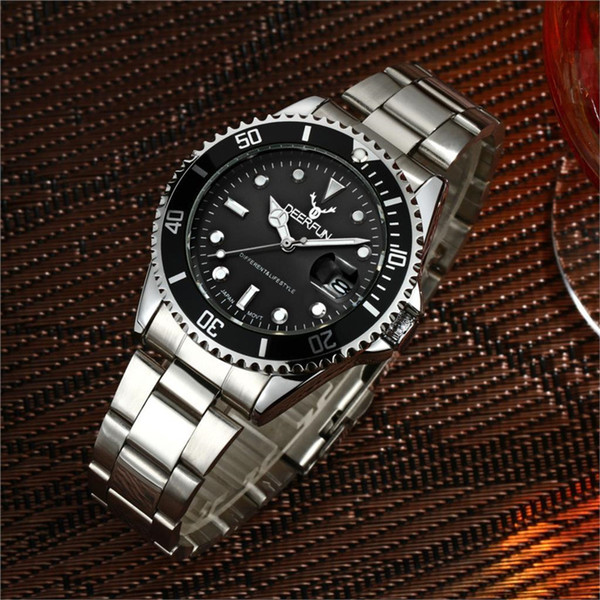 2018 New top quality design structure chic of luxury watch business style stainless steel alloy quartz Wristwatches AAA luxury mens watches