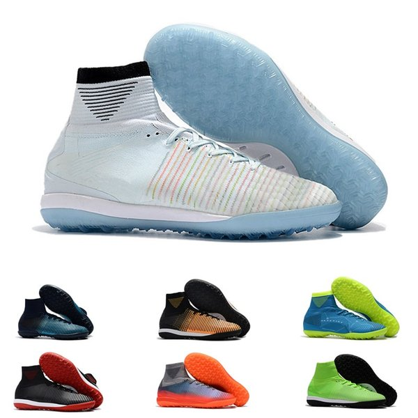 Online Indoor TF Mens CR7 Mercurial Superfly V Soccer Shoes Soccer Cleats Football Boots Youth Cristiano Ronaldo 39-45