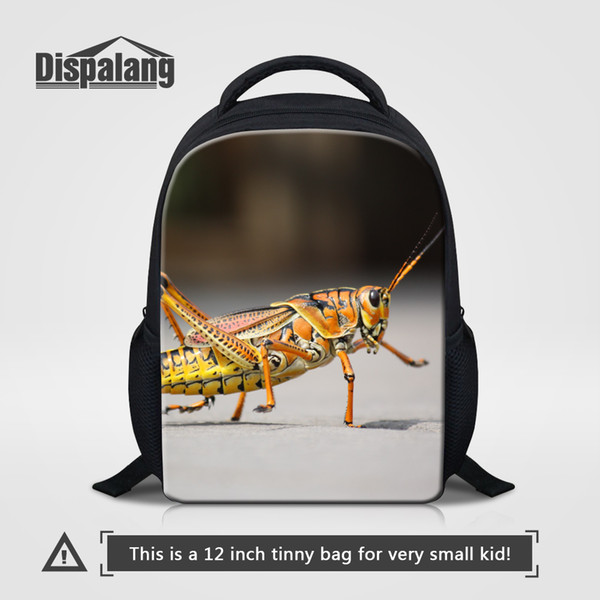 Cartoon Printing Backpack For Boys Unique Design Insect School Bag For Preschooler Animal Butterfliy Kindergarten Bookbags Children Rucksack