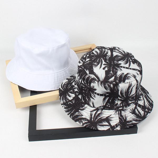 Compre LDSLYJR 2018 Cotton Coconut Tree Print Ambos Lados Sombrero ...