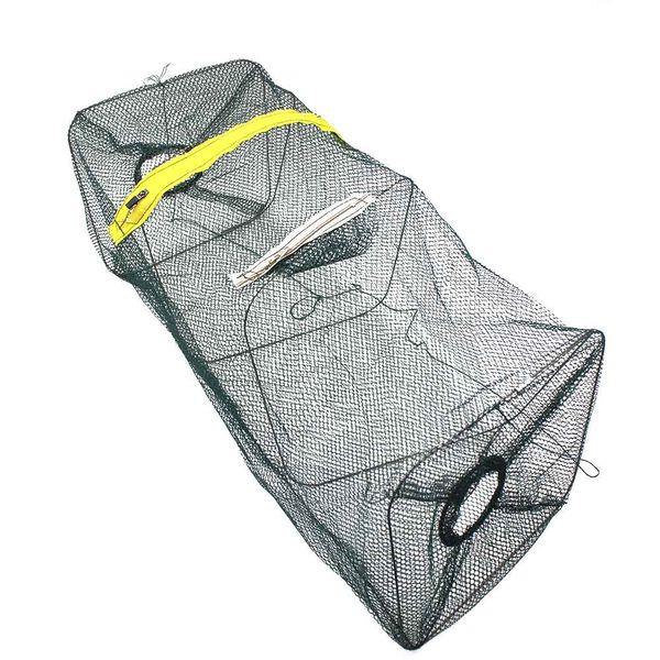 dip Folded Portable Catch Crab Shrimp Minnow Fishing Bait Trap Cast Dip Nylon Network Cage Fishing Net