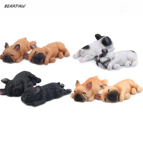 1Pcs Lovely 3D Sleeping Bulldog Cartoon Animal Fridge magnet Kids Early Education Dog Refrigerator Sticker Decals