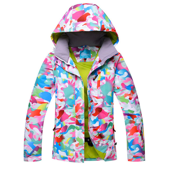 2018 ski jacket women water-proof breathable thermal snowboarding & skiing coats female snow snowboard jackets -30 degrees hot