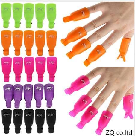 10Pcs Good Quality Plastic Acrylic Nail Art Soak Off Clip Cap UV Gel Polish Remover Gel paint for liquid extraction