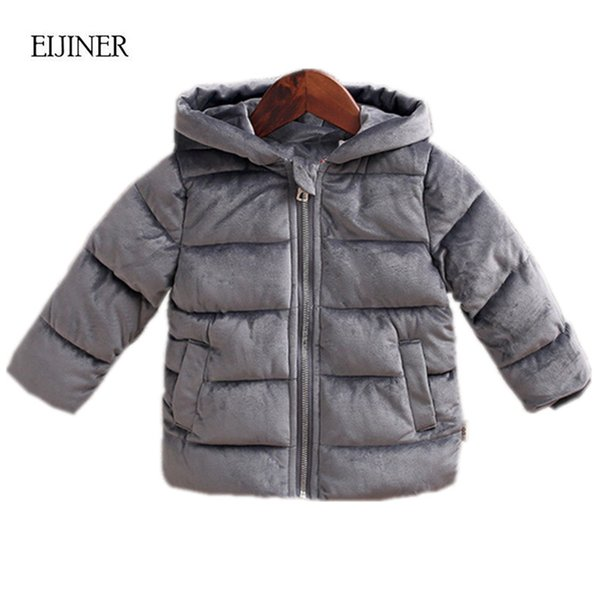 Children Winter Coats 2018 New Jackets Girls Kids Boys Coats Fashion Corduroy Girls Parka coats Thick Warm Children Outerwear