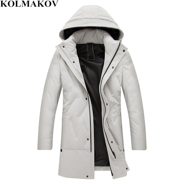 KOLMAKOV 2018 New Men's 90% White Duck Down Coats with Detachable Hat Winter Thickening Hiking Down Jackets Man Plus Size L-5XL