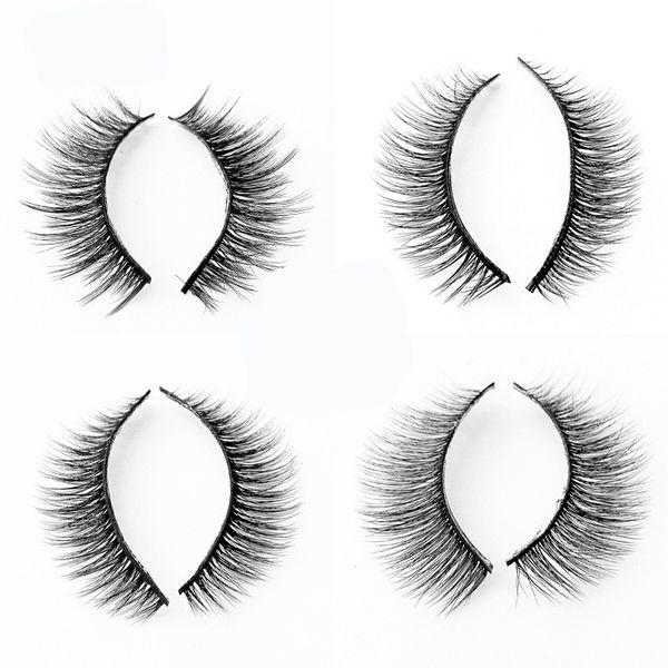 Mujeres visón 3D pelo mirada desnuda pestañas Señora Simulación gruesa esbelta pestaña falsa Natural moda belleza maquillaje suministros 3al ww