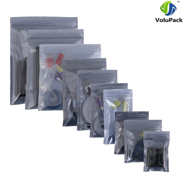100 Multi Sizes Self Seal Translucent Anti Static Mylar Flat Pouch Zip Lock Anti Static Bags For Mobile Phone Accessories