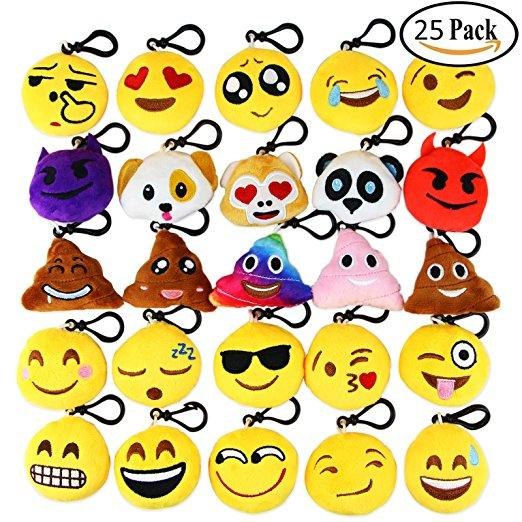 Dreampark Emoji Keychain 6cm Mini Cute Plush Pillows, Key Chain Decorations, Kids Party Supplies Favors Free Shipping