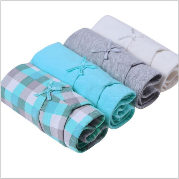 4PCS/Lot Cotton Women's Briefs Woman Panties Female Knickers Underwear underpants For Ladies