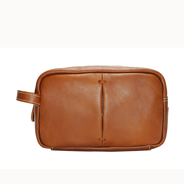 Old Cobbler Portable cosmetic bag High-capacity POCHETTE MeT IS bags fashion tote Ladies travel bag real leather