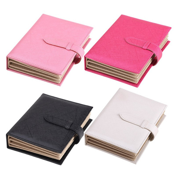 Synthetic PU leather Creativity jewelry Box Earring Book Portable Earrings Bag Storage Collection Jewelry Necklace Collect