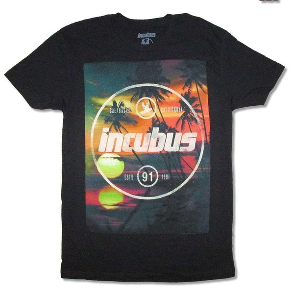 Incubus Calabasas 1991 T-shirt Noir Nouveau T-shirt Officiel Adulte Casual Manches Courtes Pour Hommes