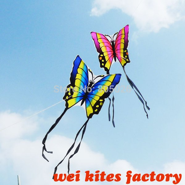 gli amanti liberi della farfalla di alta qualità di trasporto 20pcs / lot del tessuto del ripstop di nylon con la linea della maniglia accoppiano gli aquiloni di wei facili di controllo