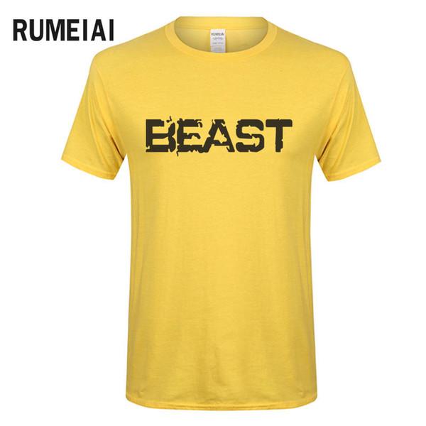 designed shirts for male Promo Codes - RUMEIAI 2018 Brand New Summer Design  Beast t shirts c8adbdae7