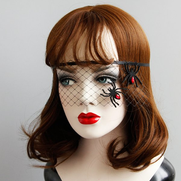 Women Sexy Lace spider Mask Party Masks For Halloween Masquerade Costumes Carnival Mask half face spider masks