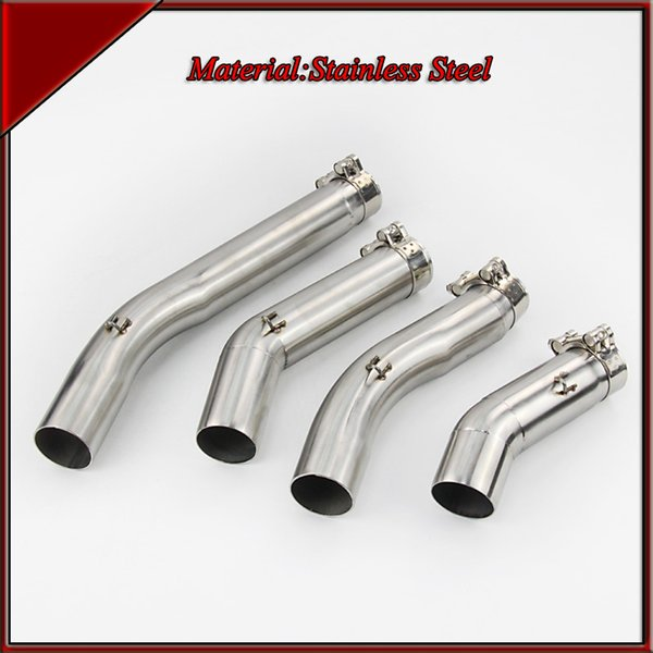 51 mm de acero inoxidable de la motocicleta universal de escape del tubo del silenciador de sección media tubo de enlace tubo de la cabeza para Suzuki GSXR 1000 600 750