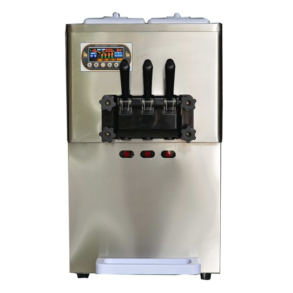 Free shipment to door EU US 3 flavors soft ice cream machine 2+1 mixed flavors yogurt ice cream machine with SS beater,gear box
