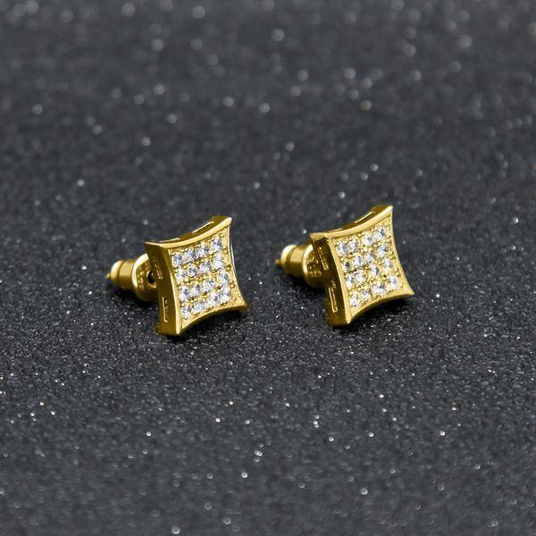 Hip-hop rock high quality zircon men's ear studs CZ Stone Earrinig hip hop earrings High grade ear nail