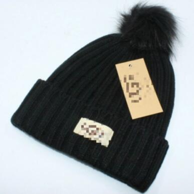 Wholesale-best selling ladies winter warm wool hat plus ball knit hat Explosion models Europe and the United States big brand wool cap