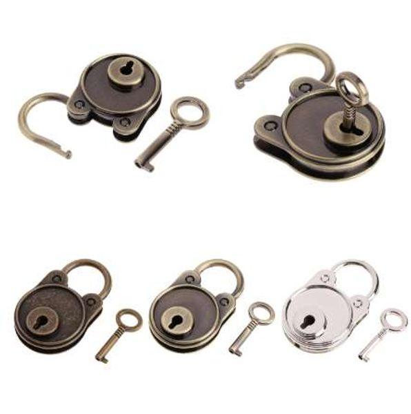 top popular OOTDTY Vintage Bear Antique Style Mini Archaize Padlocks Key Lock With key For Handbag Small Luggage Tiny Craft Diary Toy Box 2021