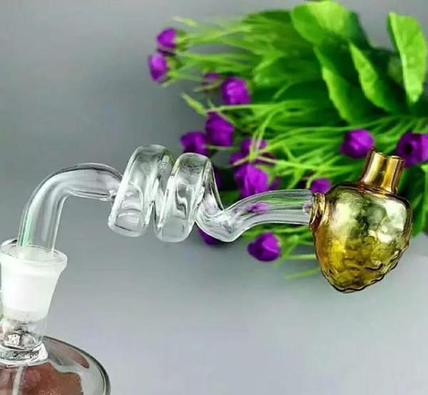 Caldaia a spirale di vetro della fragola Bong all'ingrosso Bruciatore a petrolio Tubi di acqua Tubi di olio di vetro del tubo che fumano trasporto libero
