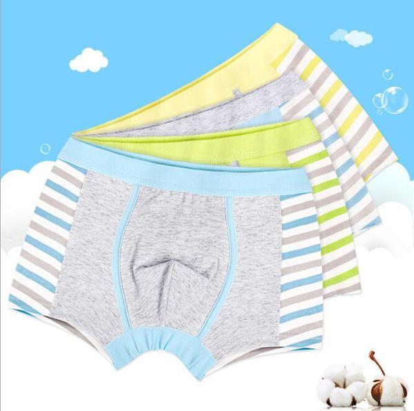 Children Underwear Boxer Briefs Cotton Stripe Spliced Boys Underwear Panties Big boys Underpants shorts Pants Factory Direct