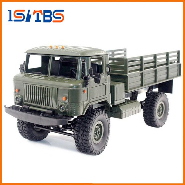WPL B-24 GAZ-66 1/16 Remote Control Military Truck 4 Wheel Drive Off-Road RC Car Model Remote Control Climbing Car RTR Gift Toy
