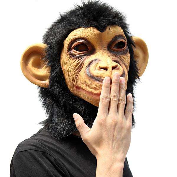 Komik Maymun Lateks Büyük Kulak Maskesi, Tam Yüz Yetişkin Maske, Cadılar Bayramı Masquerade Fantezi Elbise Parti Cosplay Kostüm Sahne