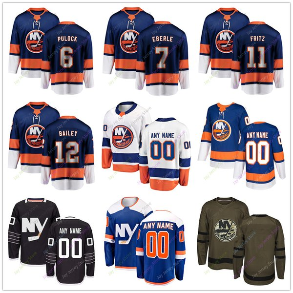 the best attitude 8d1a1 e82ed 2019 Ryan Pulock J Eberle Tanner Fritz Josh Bailey Jersey 2019 Men Women  Youth Kid Winter Classic New York Islanders C A Patch Salute To Service  From ...